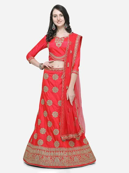 Red Lehenga Choli | Buy Red Lehenga Choli Online in India