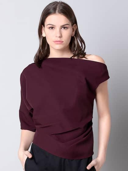 b72436f098 One Shoulder Tops - Buy One Shoulder Tops Online in India