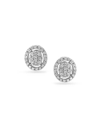 Mia by Tanishq 14KT White Gold Diamond Stud Earrings