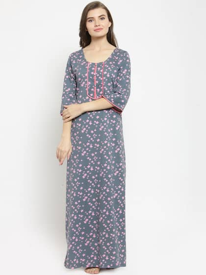 554cb89cb2 Cotton Nightdresses - Buy Cotton Nightdresses Online in India | Myntra