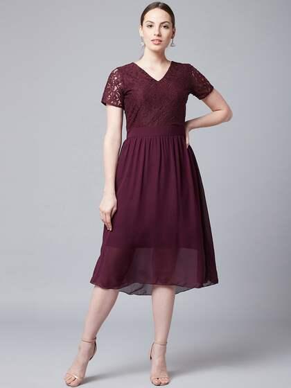 383d6c88eb1 Midi Dresses - Buy Midi Dress for Women & Girl Online   Myntra