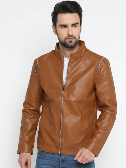 bc4a9f2b1 Leather Jackets - Buy Leather Jacket Online in India | Myntra