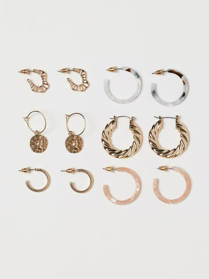 fa0b3aad99601 Hoop Earrings - Buy Hoop Earrings Online For Women & Girls | Myntra