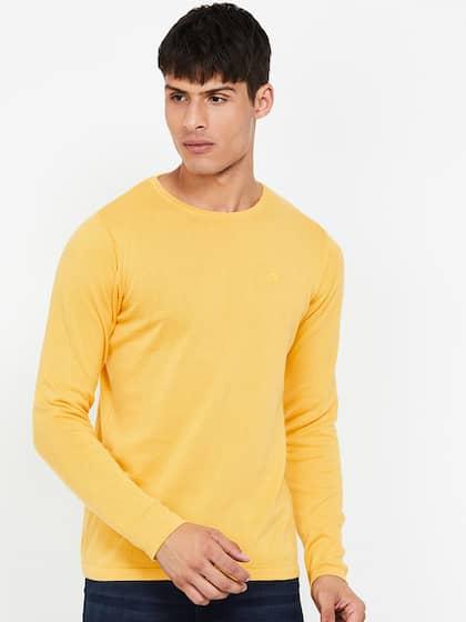 Men Yellow Sweaters , Buy Men Yellow Sweaters online in India
