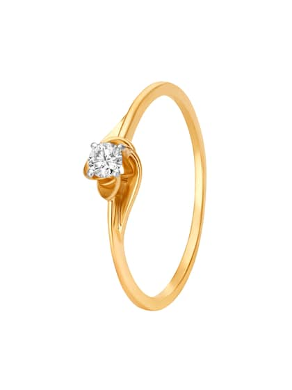 Mia by Tanishq 14KT Gold Diamond Ring for Women in Floral Design