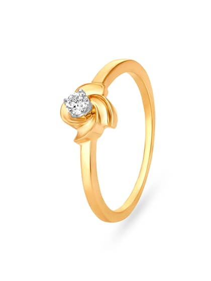 Mia by Tanishq 14KT Gold Diamond Ring for Women in Flower Design
