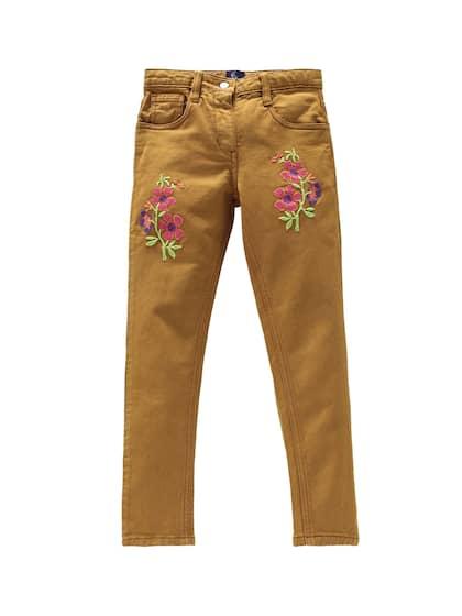 NWT H/&M girls size 7-8 super cute stretchy denim jeans side stripe SCHOOL Fall