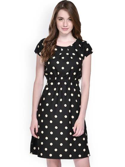 0dae73da274 Pattern. + 8 more. Ruhaans Black Printed Fit   Flare Dress