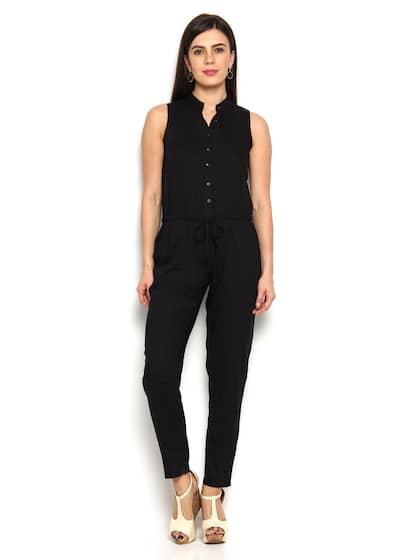 5a7b4c0ab5c Black Jumpsuit - Buy Black Jumpsuit Online in India