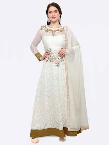 Embroidered Semi Stitched Dress Material