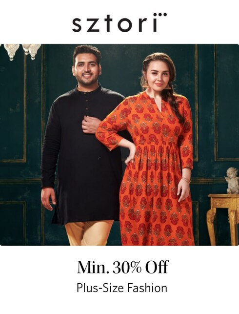 Min 30% off on Plus-Size Fashions
