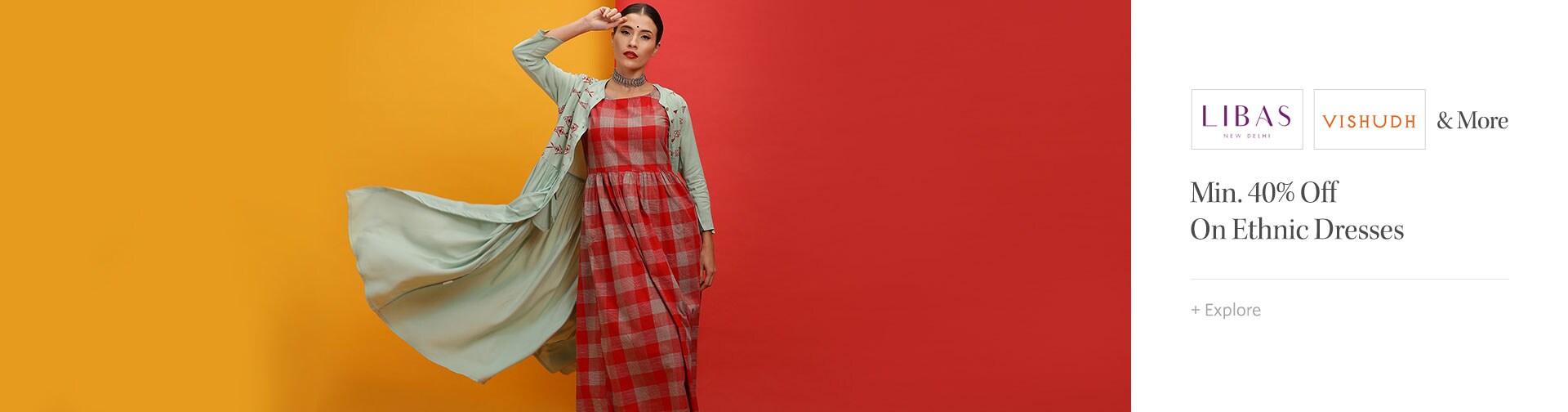 Min 40% Off on Ethnic Dresses