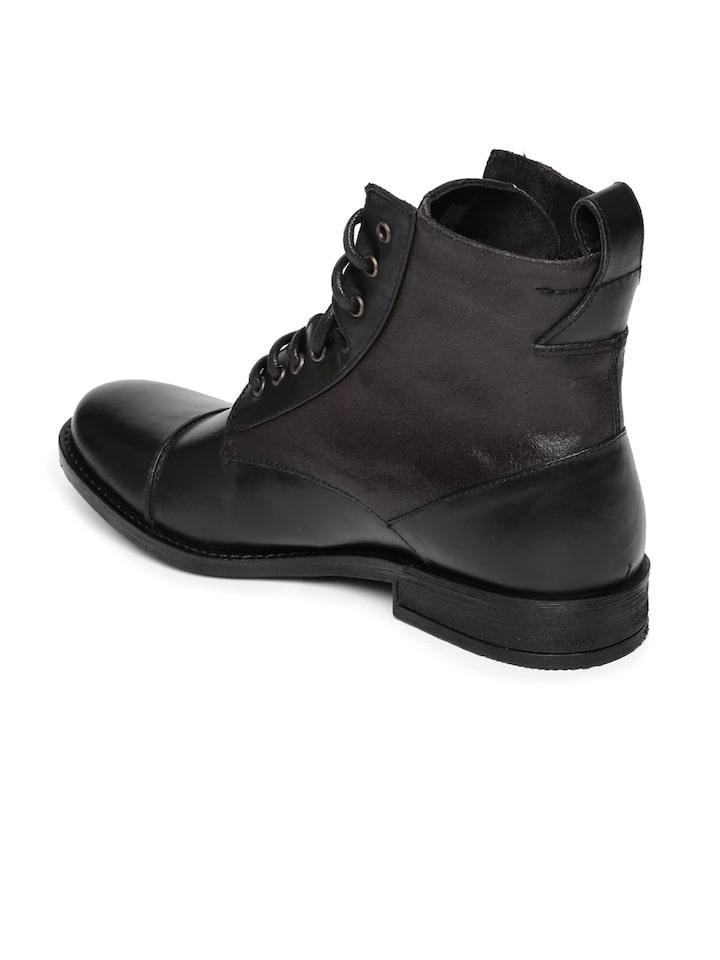 Buy Levi's Men Black Leather Boots