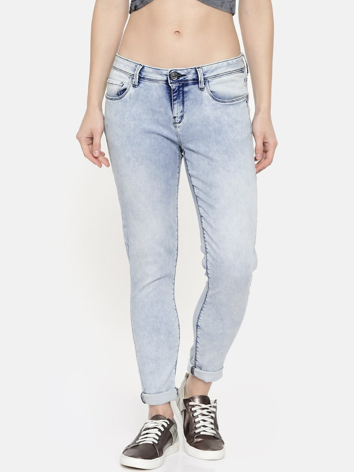 Buy Jealous 21 Women Blue Hourglass Ankle Skinny Fit Mid Rise Clean Look Stretchable Jeans Jeans For Women 10786220 Myntra Yes(elastic) size(in) us bust waist hip pants length. jealous 21 women blue hourglass ankle skinny fit mid rise clean look stretchable jeans