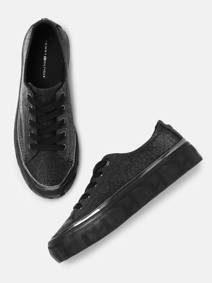 Buy Tommy Hilfiger Women Black Sneakers