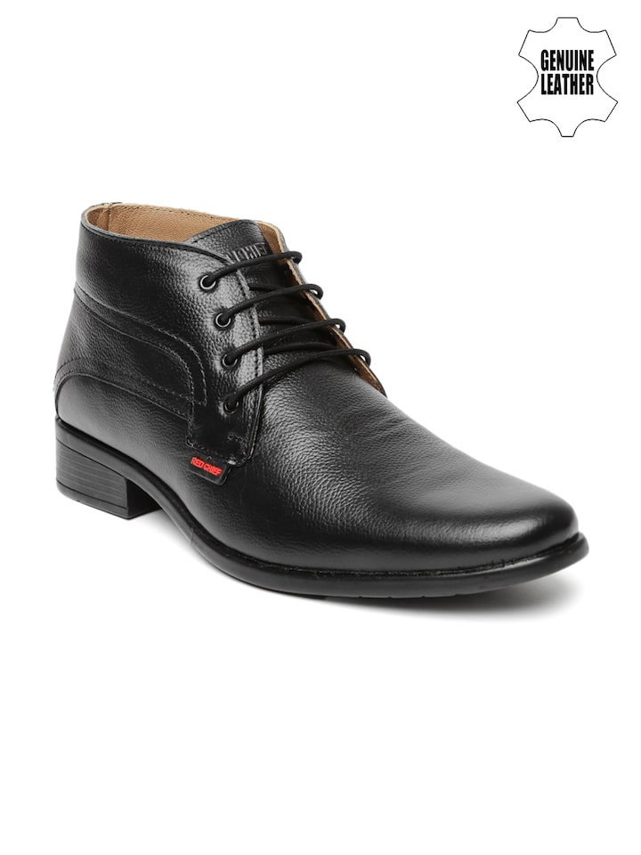 Buy Red Chief Men Black Genuine Leather