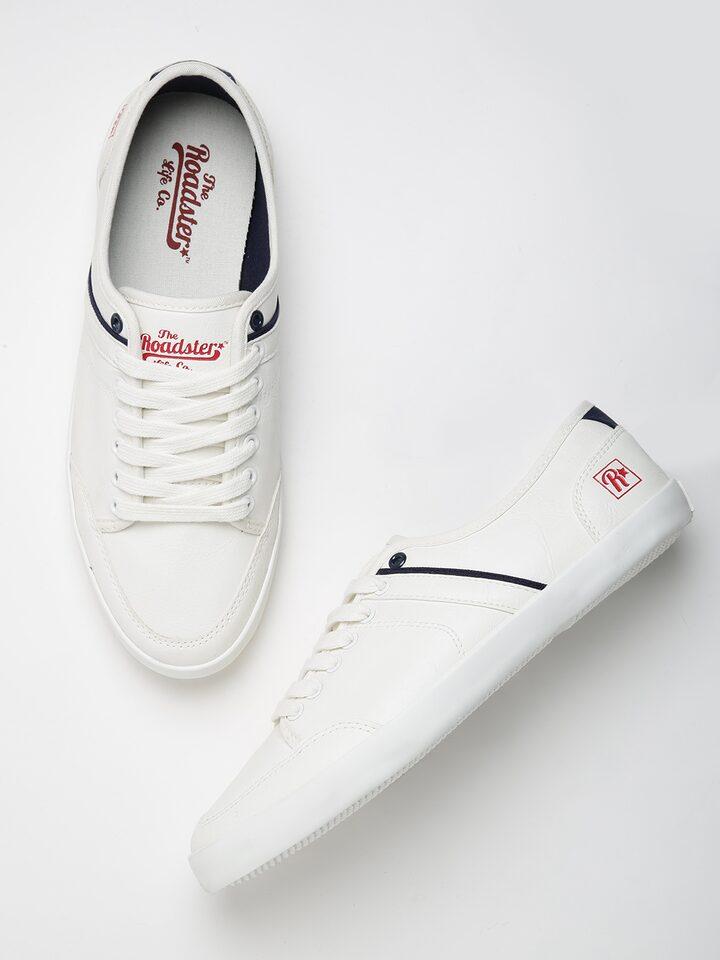 Buy Roadster Men White Sneakers