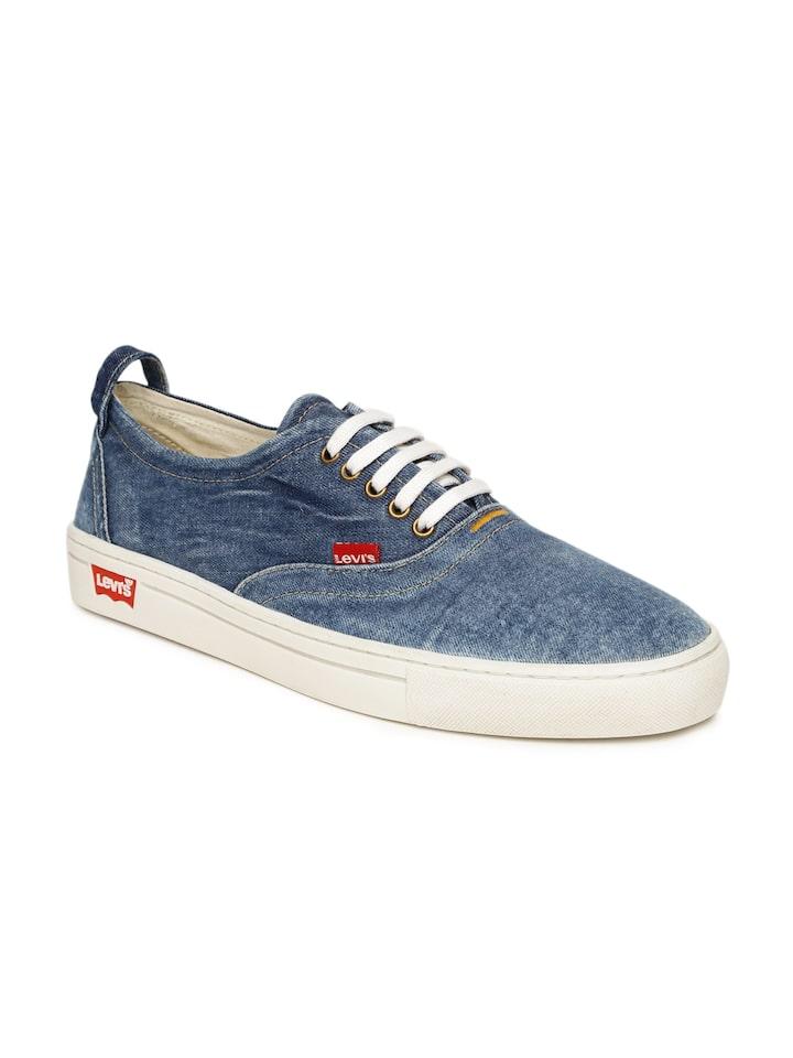 Men Blue Denim Sneakers - Casual Shoes