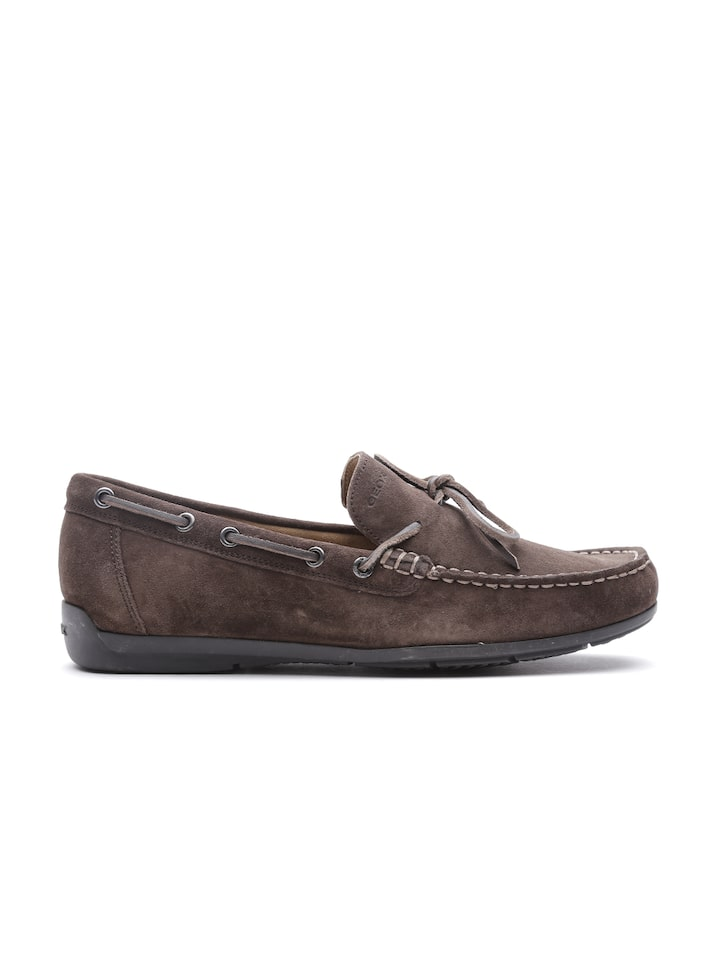 Devastar oasis Comerciante itinerante  Buy GEOX Respira Men Brown Breathable Italian Patent Suede Boat Shoes -  Casual Shoes for Men 1412489 | Myntra