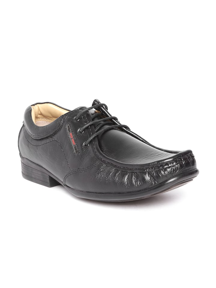 Buy Red Chief Men Black Leather
