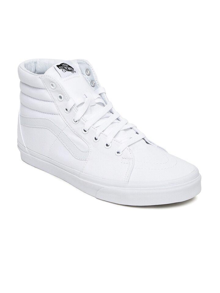 Buy Vans Men White Sk8 Mid Top Sneakers