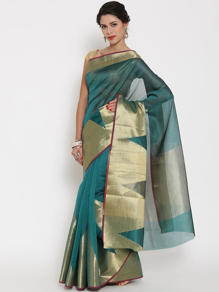 Details about  /Indian Sari Saree /& Blouse Traditional Gold Woven Banarasi Art Silk 1627