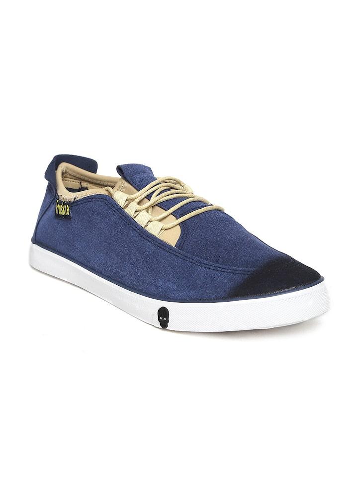 Buy Froskie Men Blue Solid Sneakers