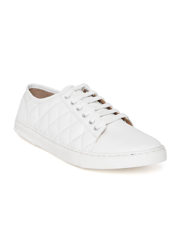 white quilted sneakers