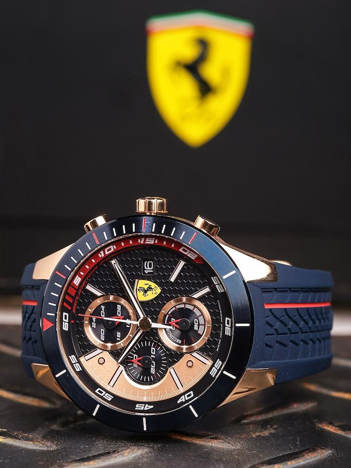 Buy Scuderia Ferrari Men Black Rose Gold Analogue Watch 0830297 Sf Watches For Men 1905098 Myntra