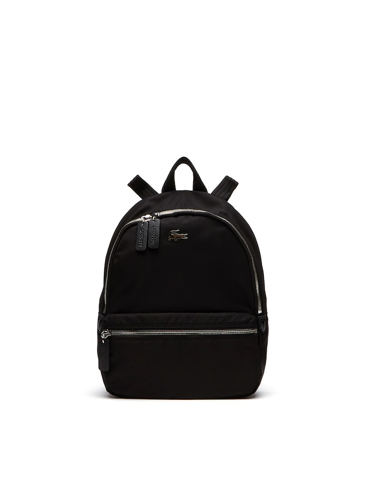 b35f127f5ee8 Lacoste Women Black Solid Backpack