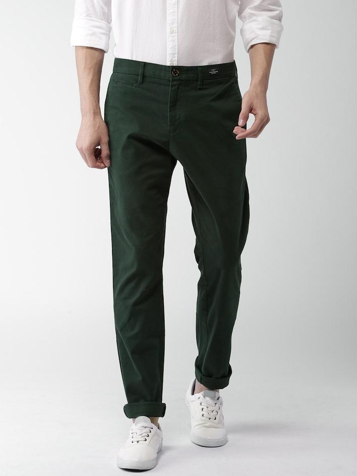 tommy hilfiger green chinos