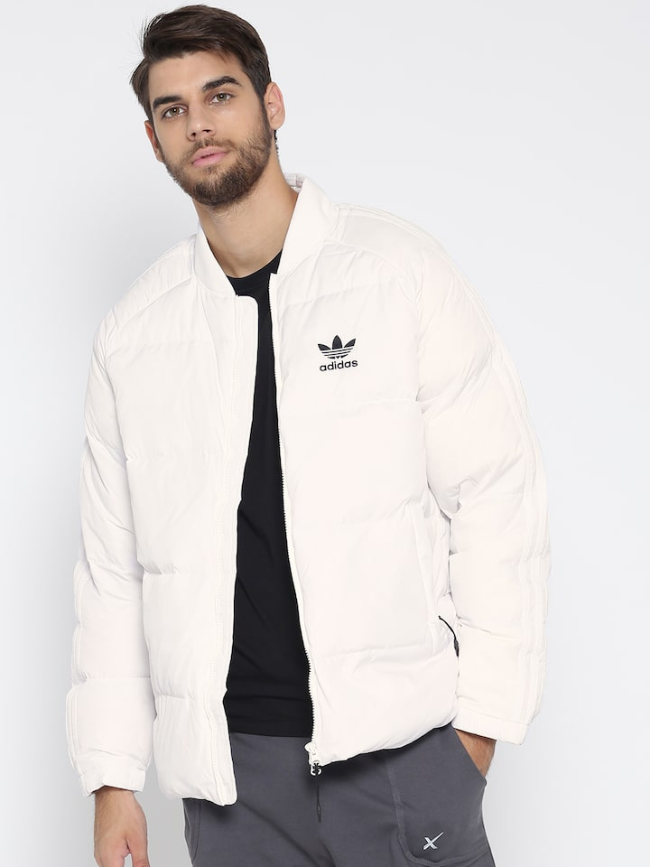 Solid Puffer Jacket - Jackets for Men