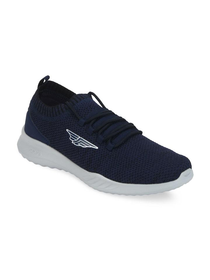 Men Navy Blue Self Design Running Shoes