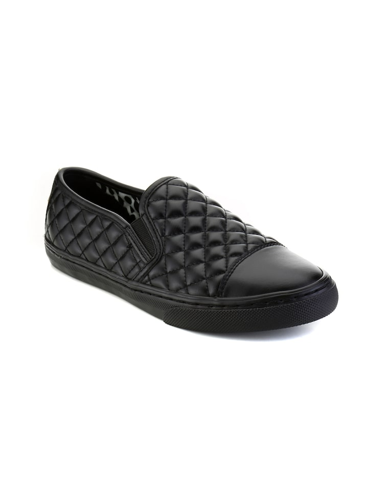 Buy Geox Women Black Quilted Slip On