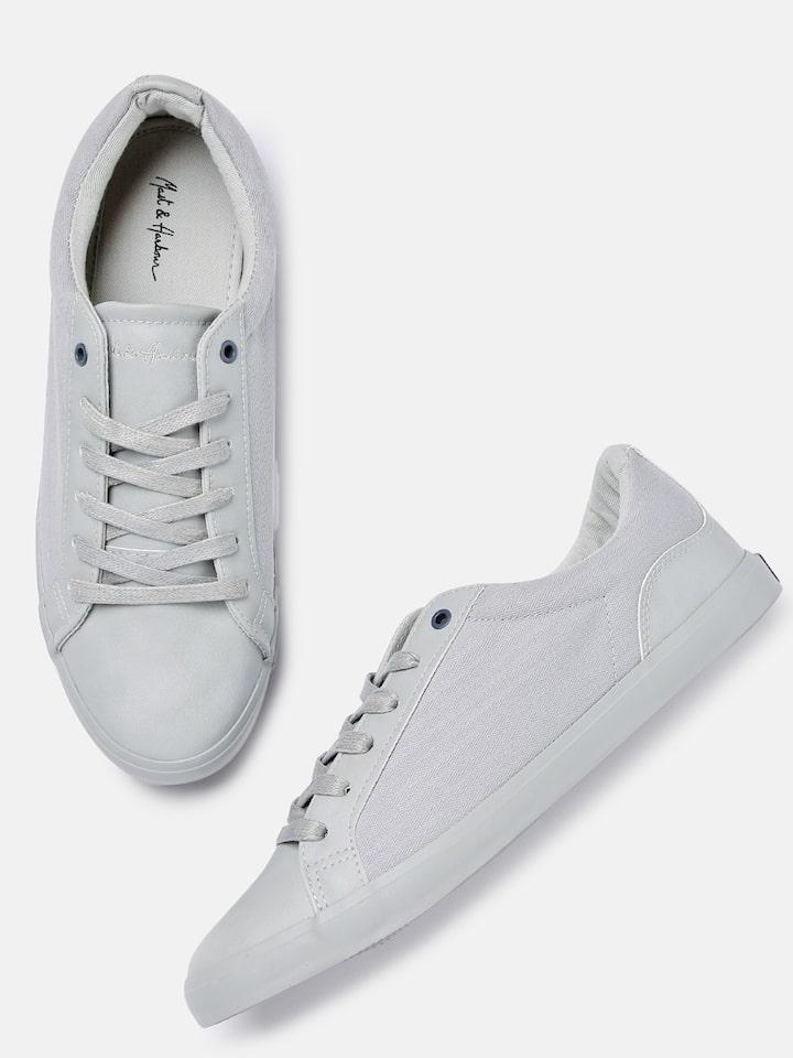 Buy Mast \u0026 Harbour Men Grey Sneakers