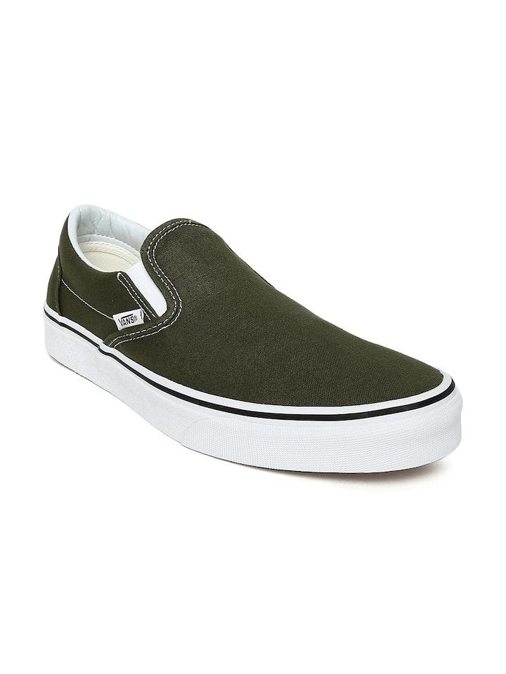 Vans Unisex Olive Green Classic Slip