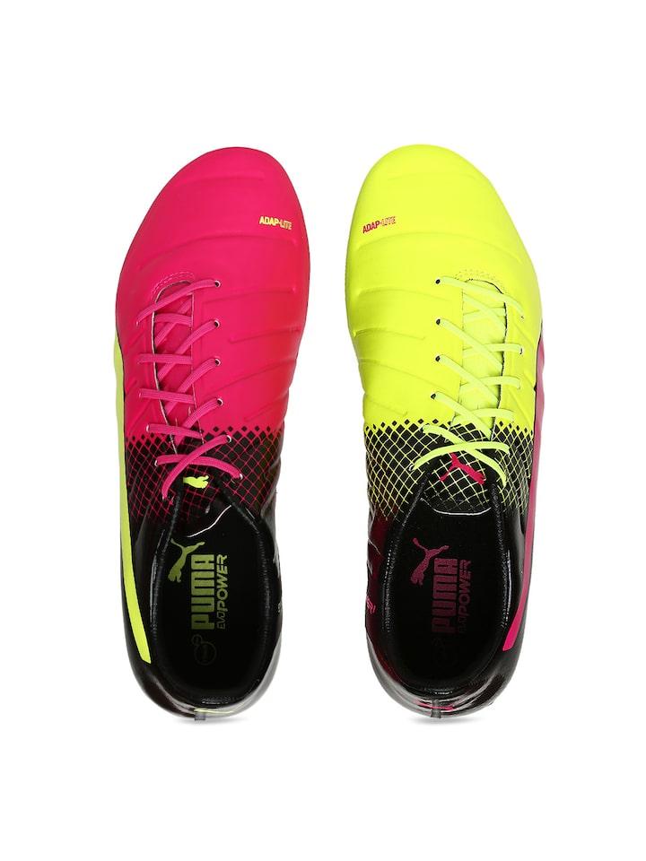 Buy Puma Men Pink \u0026 Fluorescent Green