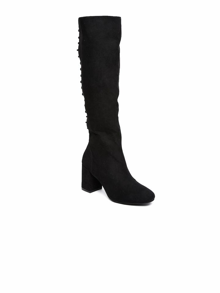 Buy FOREVER 21 Women Black Thigh High