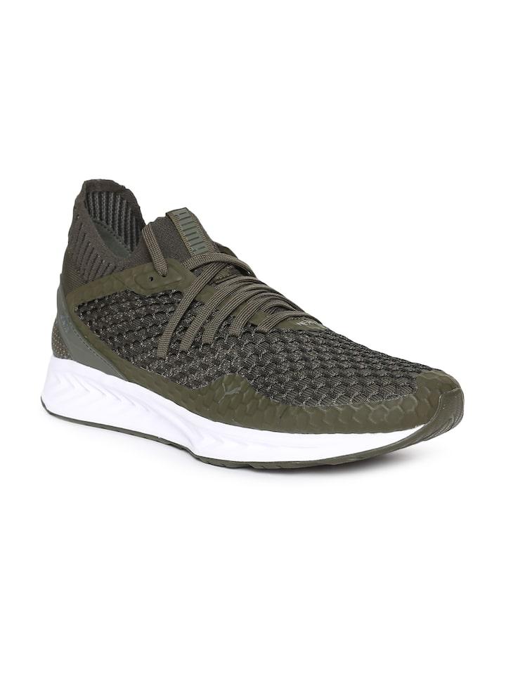 Puma Men Olive Green IGNITE NETFIT Sports Running Shoes