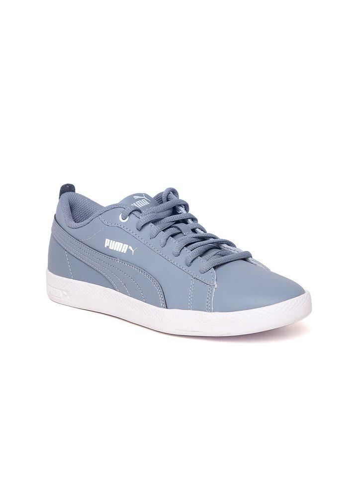 cd45271e Puma Women Blue Smash V2 Leather Sneakers