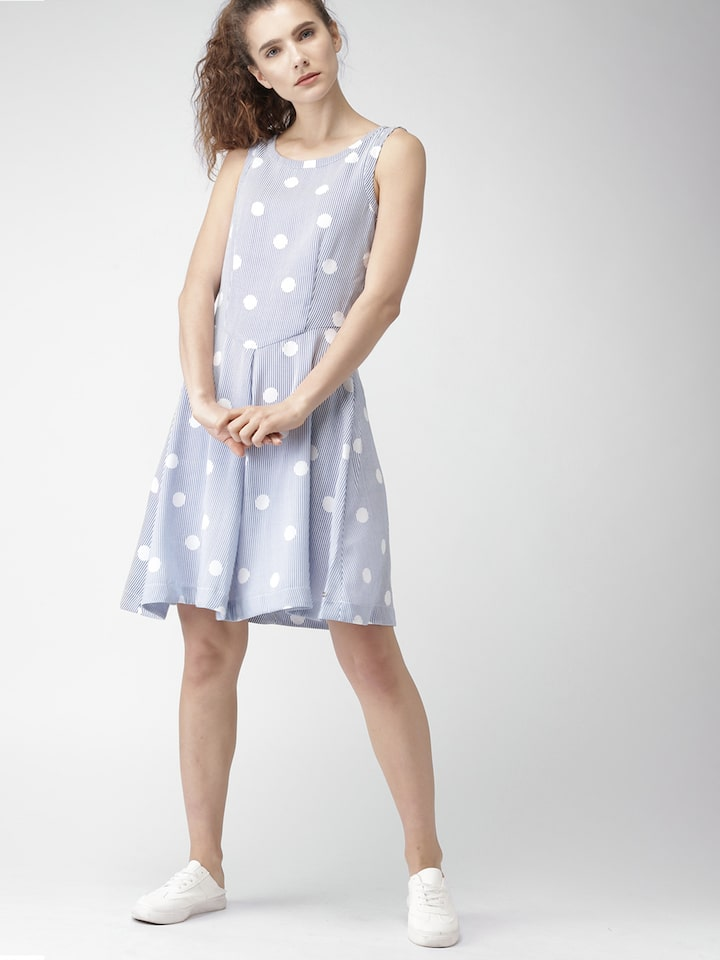 tommy hilfiger blue and white dress