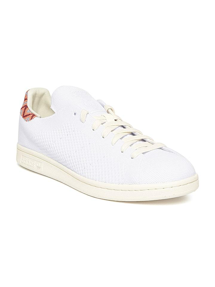 Gracias por tu ayuda Gastos de envío Ciencias Sociales  Buy ADIDAS Originals Men White STAN SMITH PK Woven Design Sneakers - Casual  Shoes for Men 3092545 | Myntra