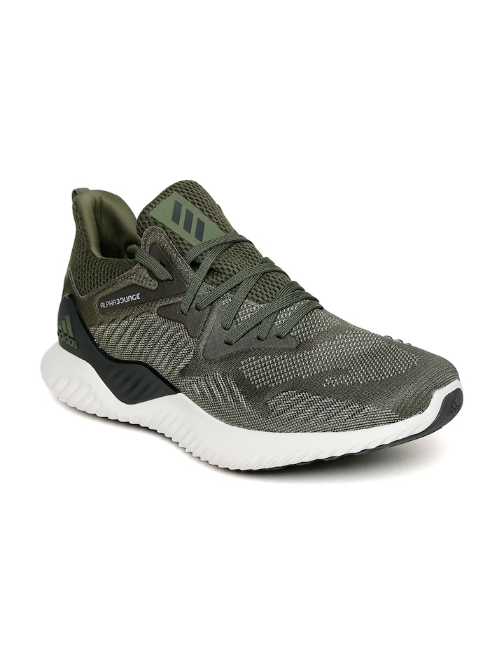 Buy ADIDAS Men Olive Green ALPHABOUNCE