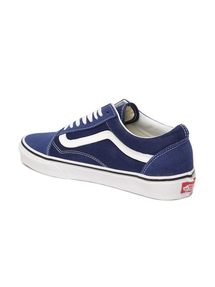 Buy Vans Unisex Blue Old Skool Sneakers