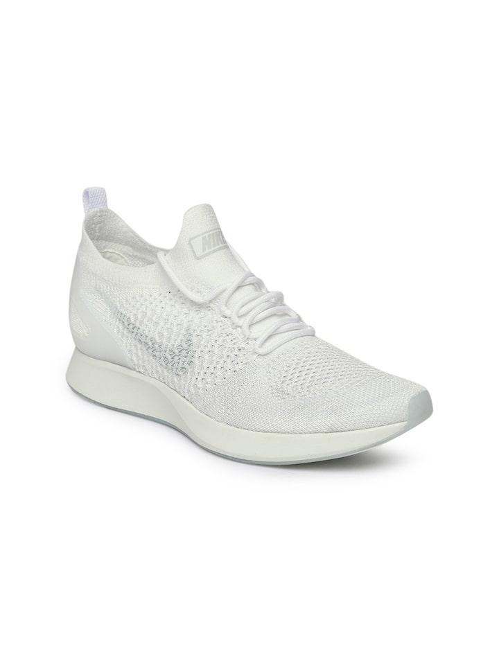 En general Defectuoso Teórico  Buy Nike Women White Air Zoom Mariah Flyknit Racer Sneakers - Casual Shoes  for Women 4330879 | Myntra