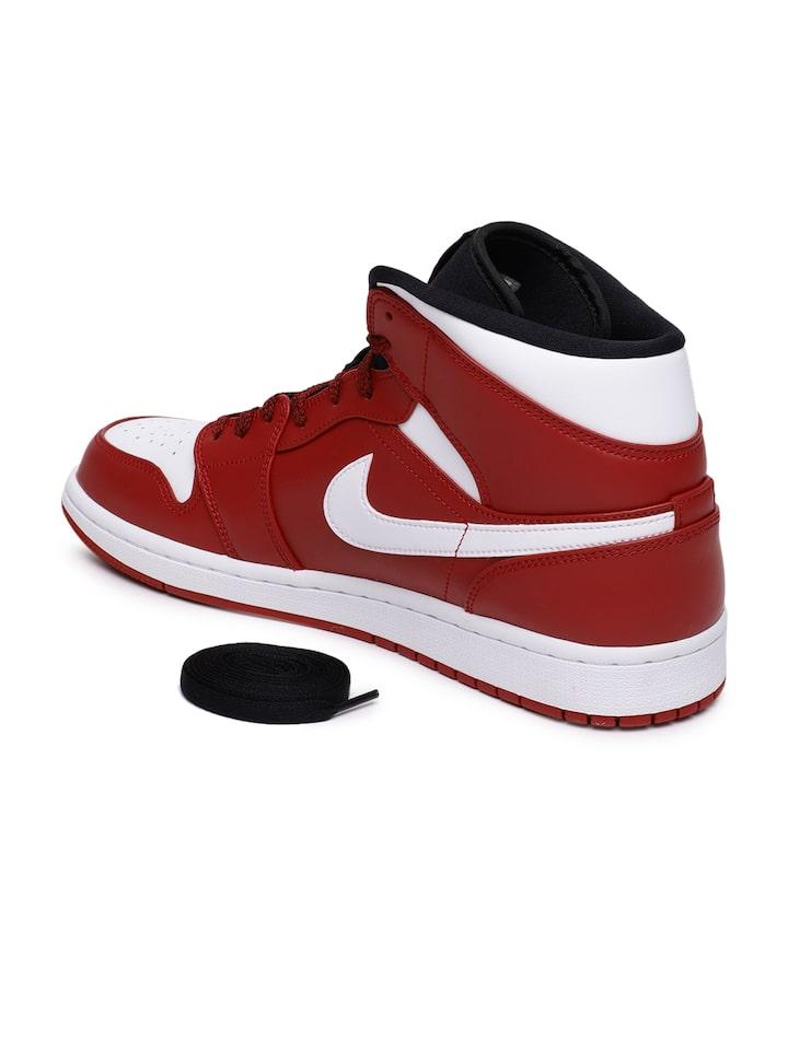 Buy Nike Men Red \u0026 White Air Jordan 1
