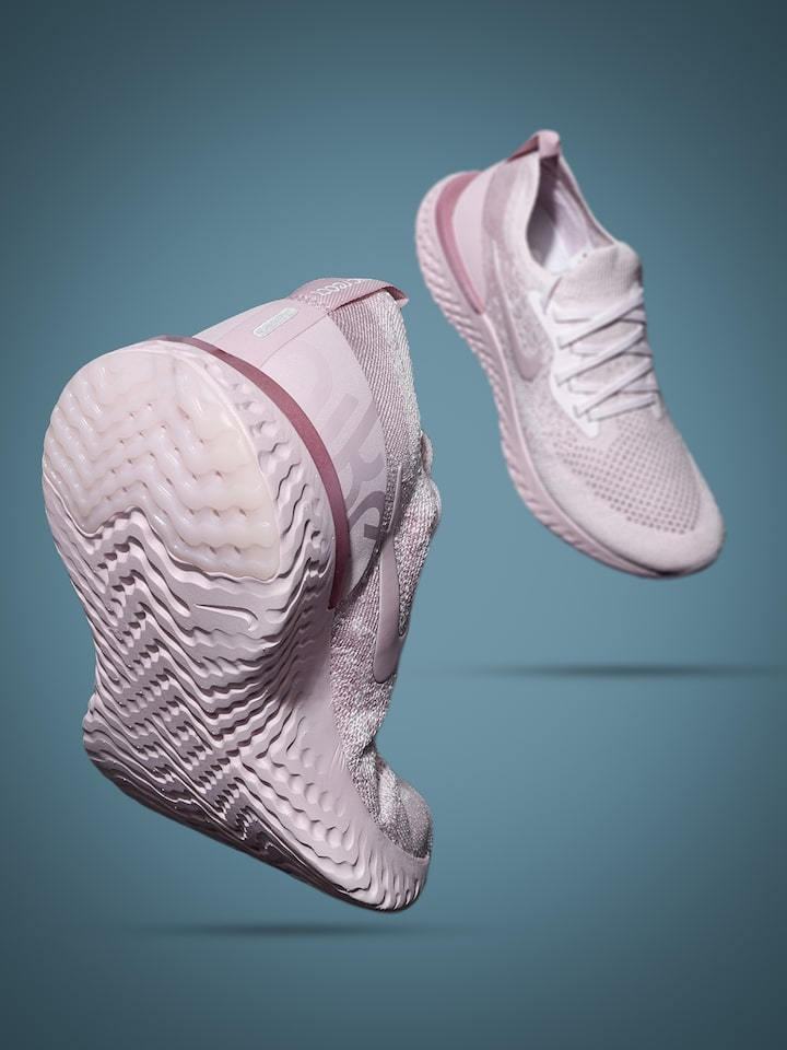 Pink Epic React Flyknit Running Shoes