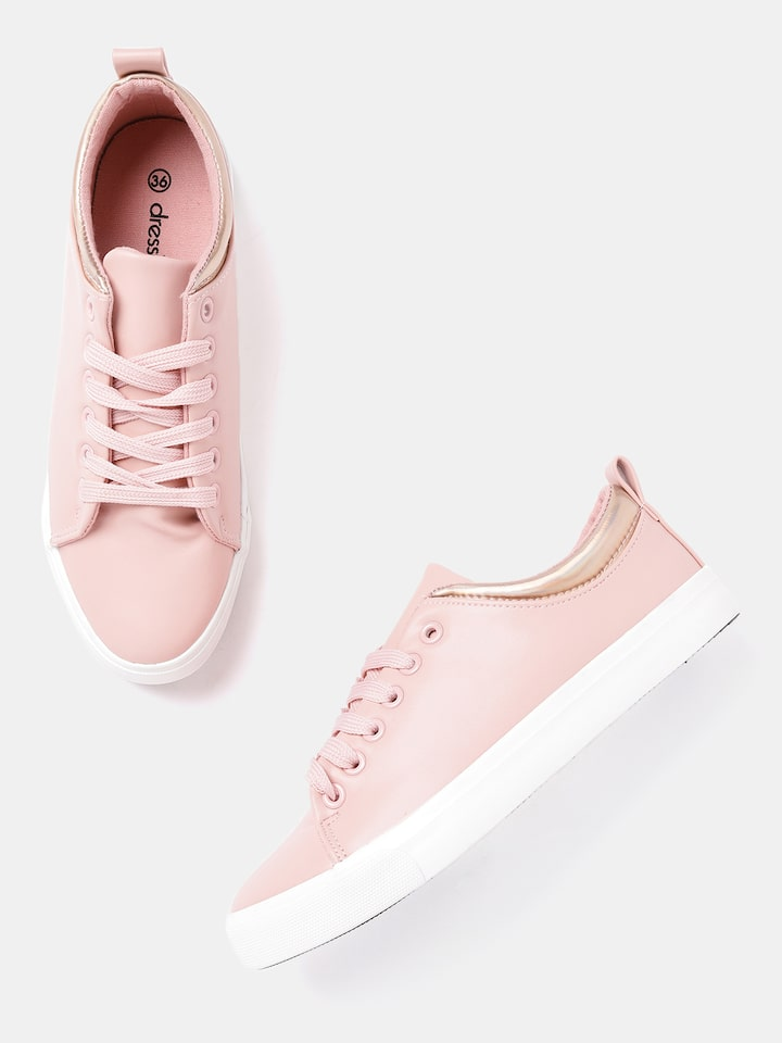 Buy DressBerry Women Pink Sneakers
