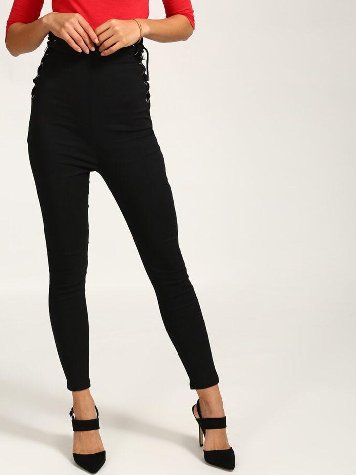 Buy StalkBuyLove Women Black Skinny Fit