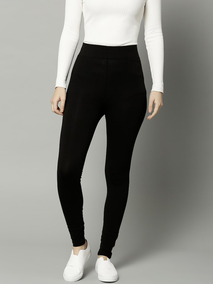 BNWT Ladies High Rise Leggings By Marks And Spencers Size 8